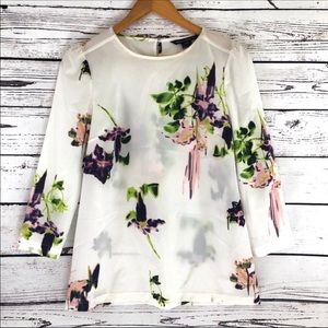 French Connection Tops - French Connection Floral Blouse
